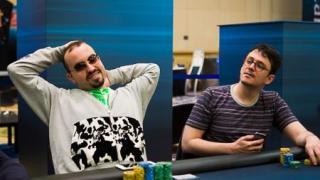 Chipleader Bryn Kenney und Finalist Ike Haxton
