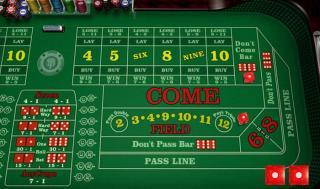 online casino craps board
