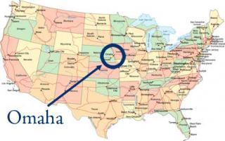 omaha USA Landkarte nicht Poker