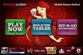 Zynga Poker-App Bildschirmfoto