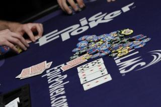Epic Poker logo on table