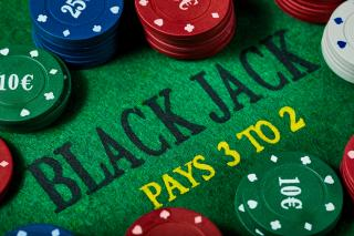 Black Jack gambling table
