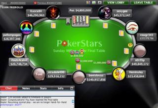 Sunday Seven Million Final Table