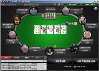 Echtgeld Poker Cash Game Tisch