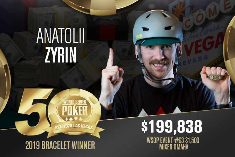 Anatolii Zyrin (RU) - Sieger Event #63 WSOP 2019