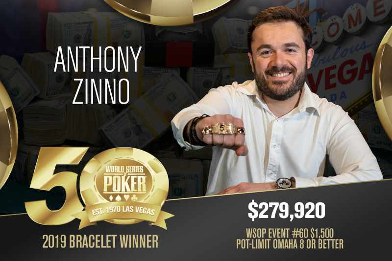 Anthony Zinno (US) - Sieger Event #60 WSOP 2019