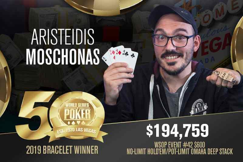 Aristeidis Moschonas (GR) - Sieger Event #42 WSOP 2019