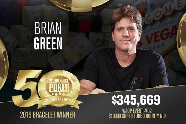 Brian Green (US) - Sieger Event #2 WSOP 2019