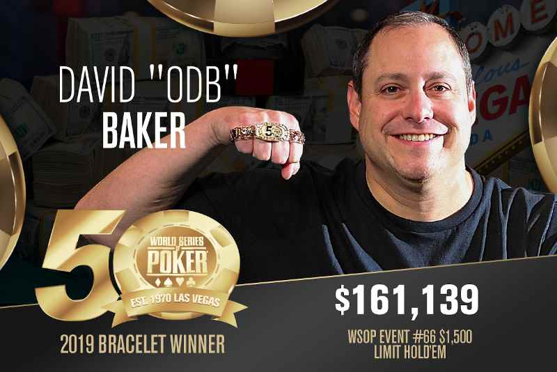 "David ""ODB"" Baker (US) - Sieger Event #66 WSOP 2019"