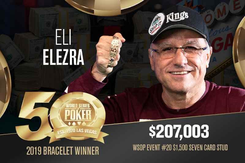Eli Elezra (US) - Sieger Event #20 WSOP 2019