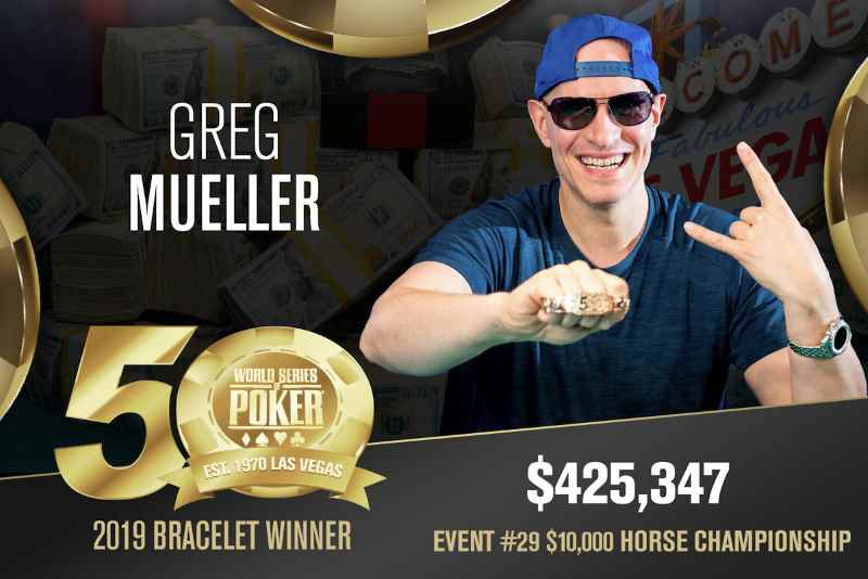 Greg Mueller (CA) - Sieger Event #29 WSOP 2019