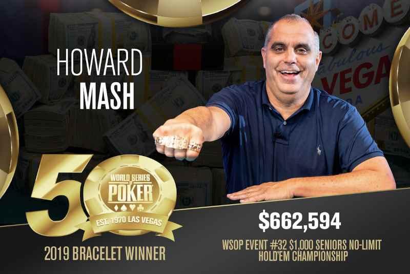 Howard Mash (US) - Sieger Event #32 WSOP 2019