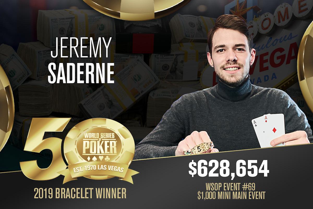 Jeremy Saderne (FR) - Sieger Event #69 WSOP 2019