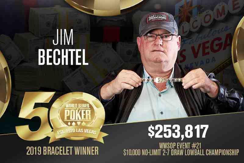 Jim Bechtel (US) - Sieger Event #21 WSOP 2019