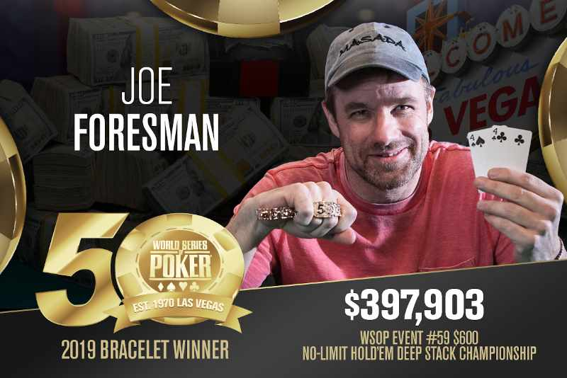 Joe Foresman (US) - Sieger Event #59 WSOP 2019