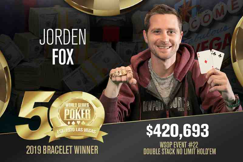 Jorden Fox (US) - Sieger Event #22 WSOP 2019