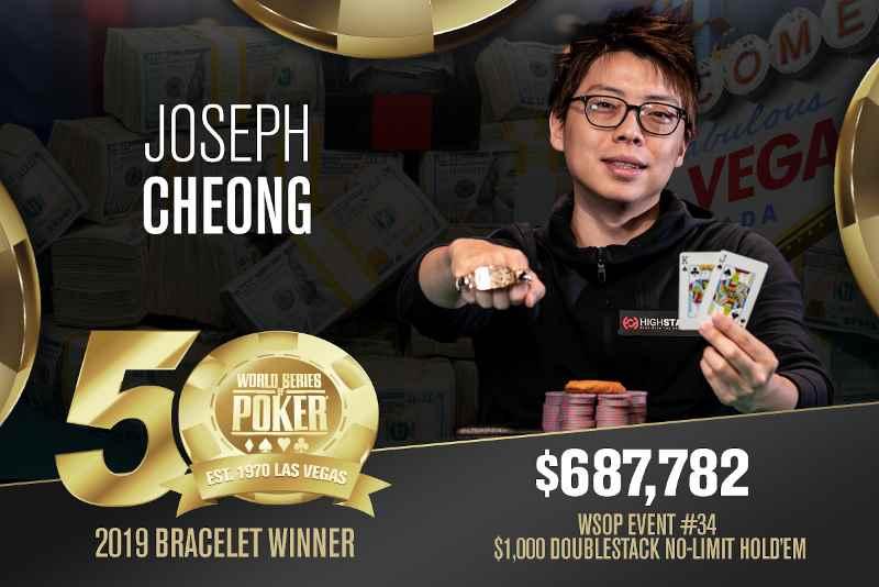 Joseph Cheong (US) - Sieger Event #34 WSOP 2019