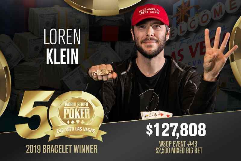 Loren Klein (US) - Sieger Event #43 WSOP 2019