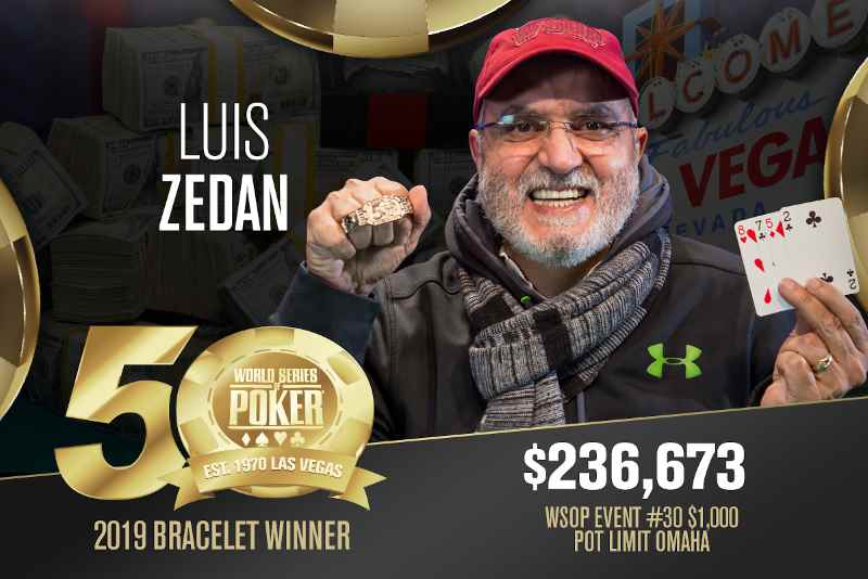 Luis Zedan (US) - Sieger Event #30 WSOP 2019