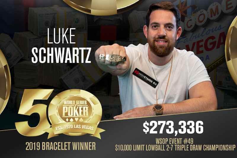 Luke Schwartz (GB) - Sieger Event #49 WSOP 2019