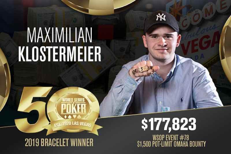 Maximilian Klostermeier (DK) - Sieger Event #78 WSOP 2019