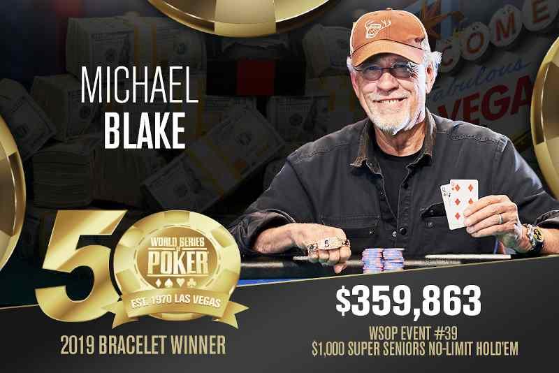 Michael Blake (US) - Sieger Event #39 WSOP 2019