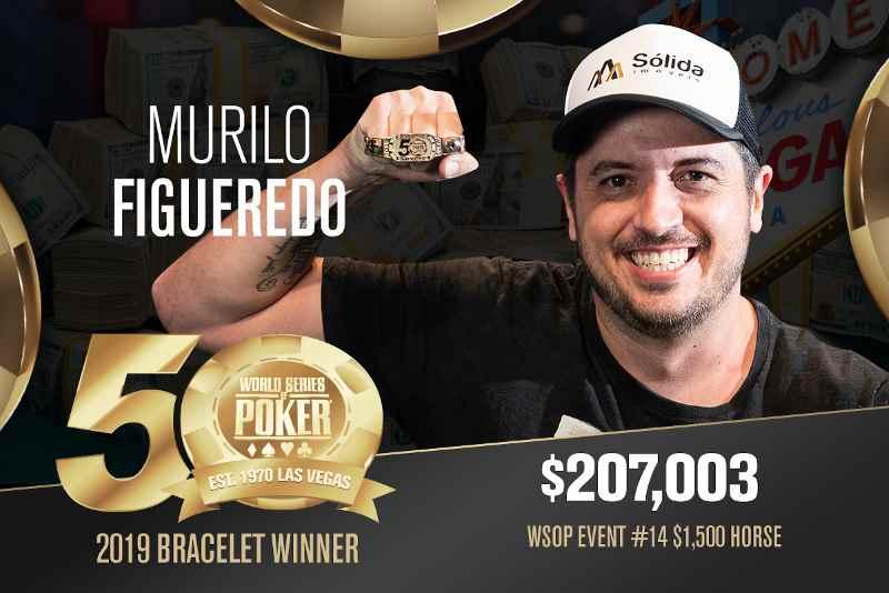 Murilo Figueredo (BR) - Sieger Event #14 WSOP 2019