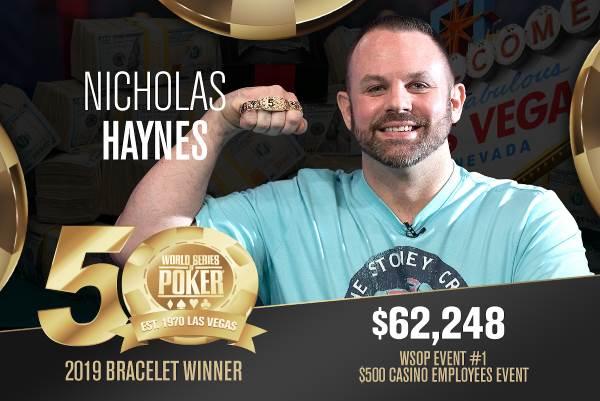 Nicholas Haynes (US) - Sieger Event #1 WSOP 2019