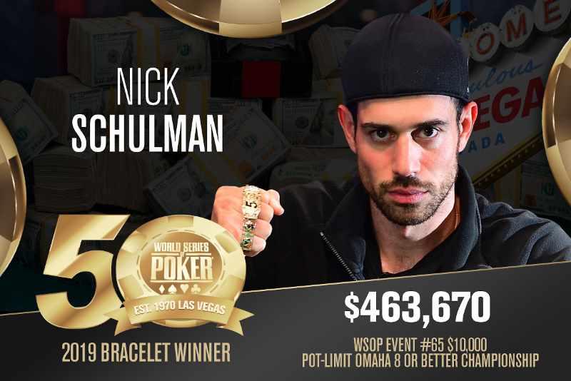 Nick Schulman (US) - Sieger Event #65 WSOP 2019