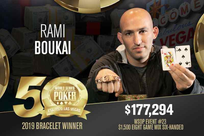 Rami Boukai (US) - Sieger Event #23 WSOP 2019