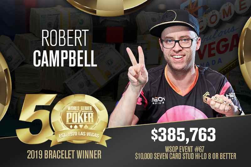 Robert Campbell (AU) - Sieger Event #67 WSOP 2019