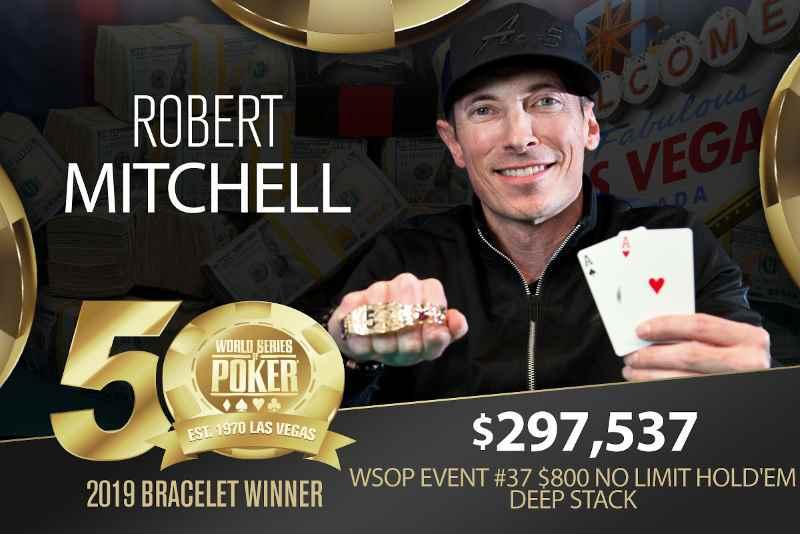 Robert Mitchell (US) - Sieger Event #37 WSOP 2019