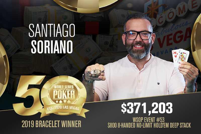 Santiago Soriano (ES) - Sieger Event #53 WSOP 2019