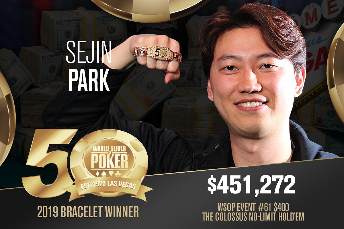Sejin Park (KR) - Sieger Event #61 WSOP 2019