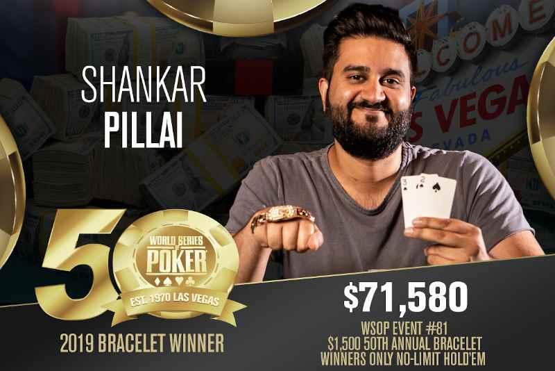 Shankar Pillai (US) - Sieger Event #81 WSOP 2019