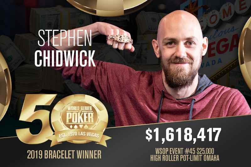 Stephen Chidwick (GB) - Sieger Event #45 WSOP 2019