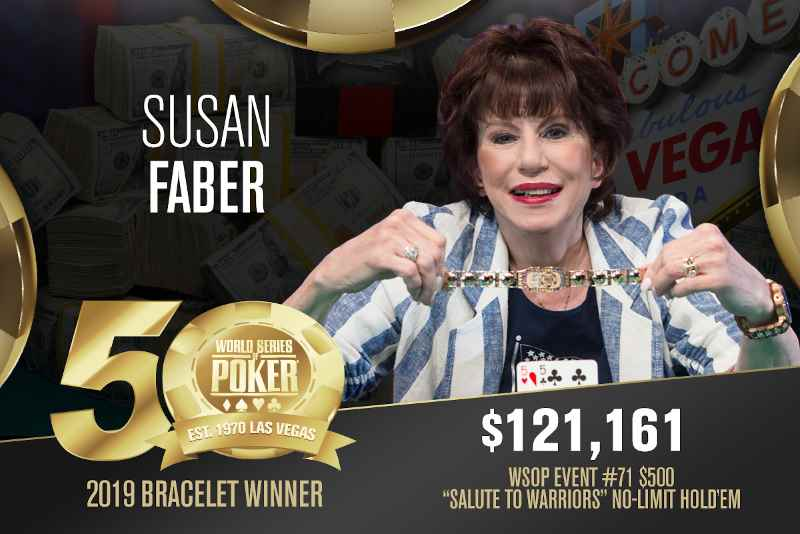 Susan Faber (US) - Sieger Event #71 WSOP 2019