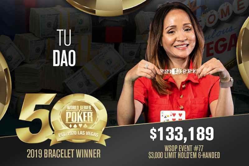 Tu Dao (CA) - Sieger Event #77 WSOP 2019