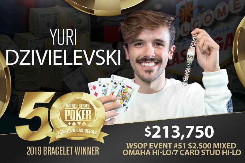 Yuri Dzivielevski (BR) - Sieger Event #51 WSOP 2019