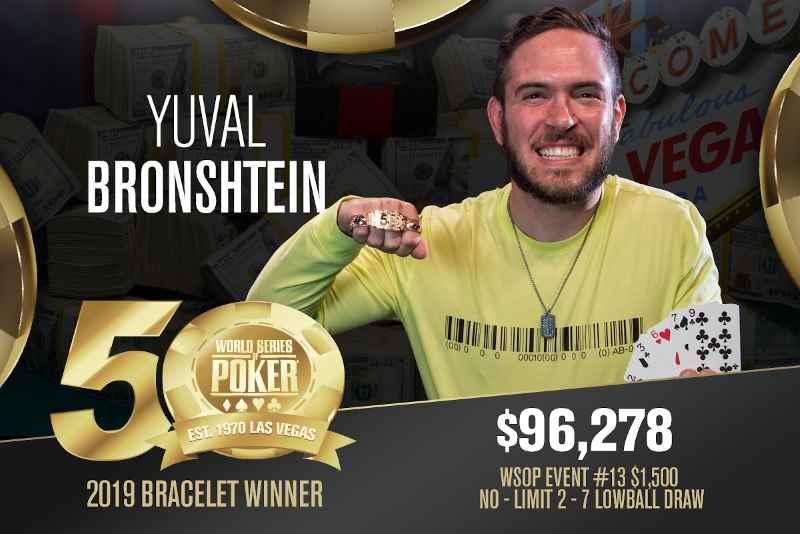 Yuval Bronshtein (IL) - Sieger Event #13 WSOP 2019