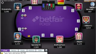 Betfair Poker Tisch