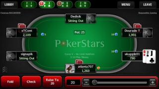PokerStars Mobile Tisch
