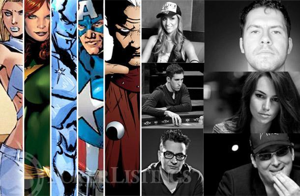 Pokerspieler als Superhelden