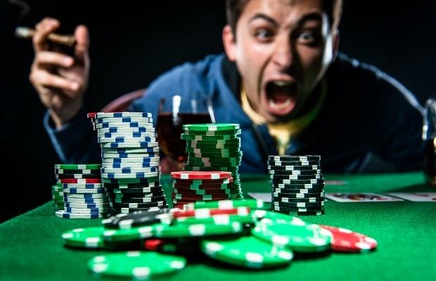 poker player on tilt