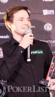 Erwann Pecheux pokerplayer of the year 2015 France