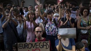 protest in spanien