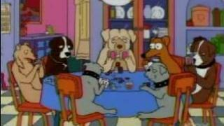 simpsons dogs playing poker2