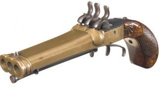 Triple barrel revolver