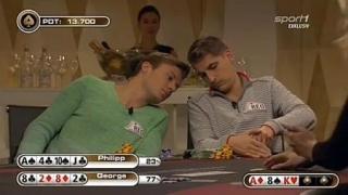 Der Moment als Philipp Max seine Karten zeigt und damit für einen Eklat sorgte