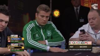Max Altergott beim Aussie Millions Cash Game 2014